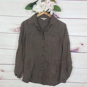 CAbi | Mocha Brown Utility Jacket S